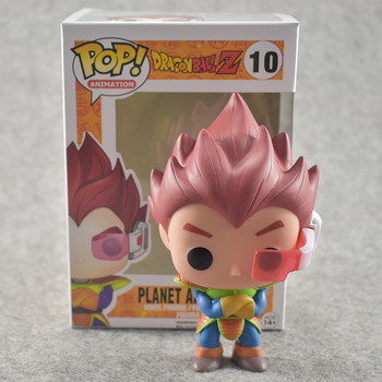 FUNKO POP 10cm Anime Dragon Ball Z POP Super Saiyan VEGETA Red Hair Action Figure PVC Collection Model Doll