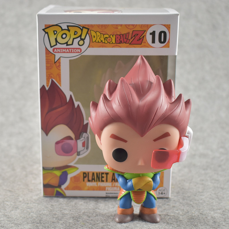 FUNKO POP 10cm Anime Dragon Ball Z POP Super Saiyan VEGETA Red Hair Action Figure PVC Collection Model Doll anime dragon ball z super saiyan vegeta pvc action figure dragonball master stars piece smsp collection model toys doll gifts