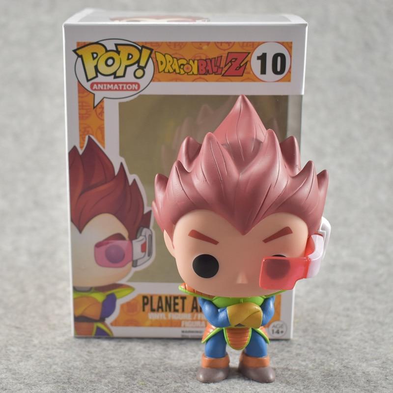 FUNKO POP 10cm Anime Dragon Ball Z POP Super Saiyan VEGETA Red Hair Action Figure PVC Collection Model Doll funko pop minions king bob cro minion 10cm pvc action figure jouet 1133 brinqudos toys kids gift free shipping
