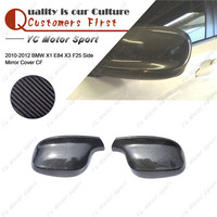 Car Accessories Carbon Fiber Mirror Covers Fit For 2010 2012 BMW X1 E84 X3 F25 Side Mirror Cover Cap Frame Replacement