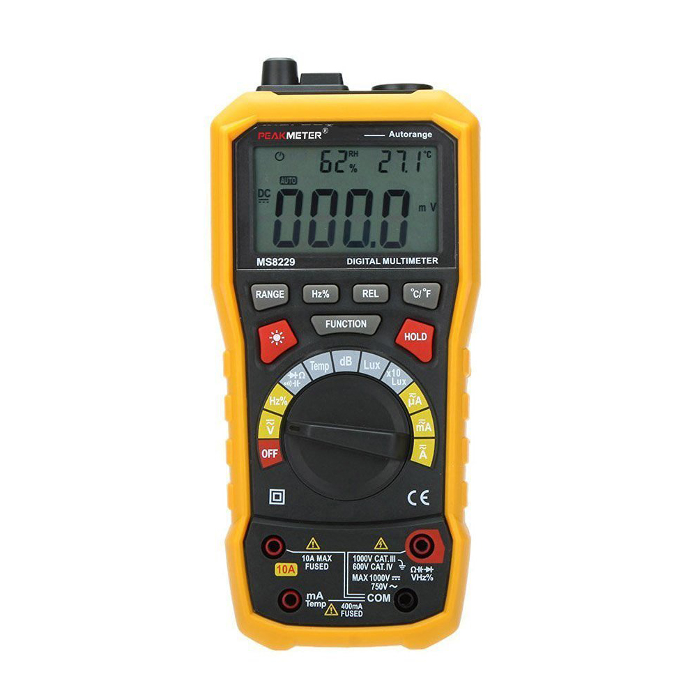 PEAKMETER MS8229 Auto-Range 5-in-1 Multifunctional Handheld 2.8 Auto Digital Multimeter my68 handheld auto range digital multimeter dmm w capacitance frequency