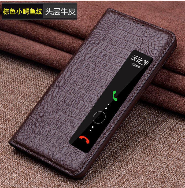 Étui en cuir véritable peau de vache pour huawei P20 housse de protection coque de téléphone pour huawei p20 pro étui intelligent. - 3