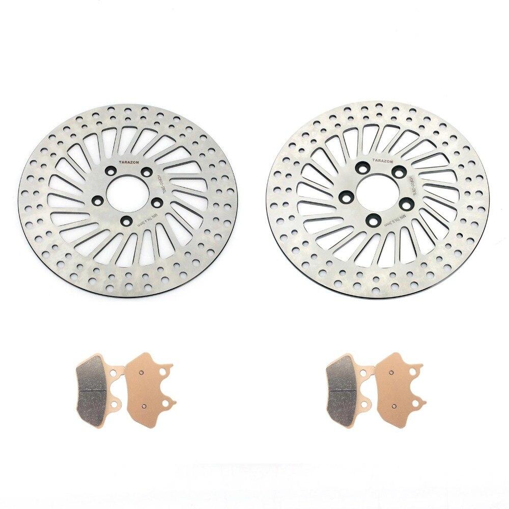 BIKINGBOY спереди и сзади тормозные диски тормозные колодки для Harley Sportster XLH 883 шито XL 883 1200 C пользовательские 2000 2001 2002 2003