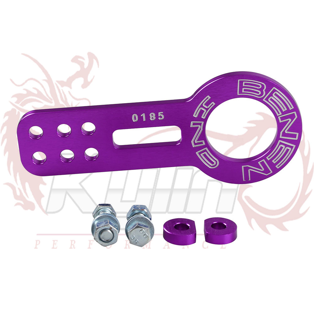 Double Lettering UNIVERSAL FRONT TOW HOOK (ONE PICES: Front ) color:Purple,red,sliver,black,blue,golden