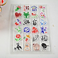 1 Sheet colored Clear Rubber Stamp 24 designs sunny doll Transparent Stamp DIY ScrapbookingCard Making Decoration Supplies