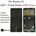 Negro lcd + tp + marco para xiaomi mi 4i mi4i m4i asamblea pantalla lcd con digitalizador de la pantalla táctil smartphone