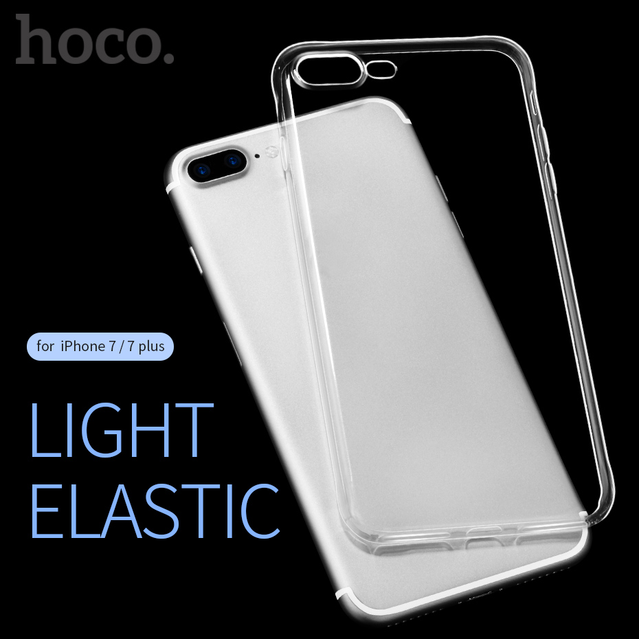 hot sale online d3c19 85d66 HOCO Clear Soft TPU Case for iPhone 7 8 & 7 8 PLUS Transparent Protective  Original Cover Ultra thin Protection for iPhone 8 on Aliexpress.com | ...