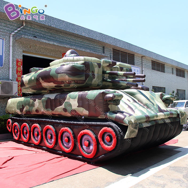 Customized 6.5x3x3.6 meters giant inflatable tank / tank inflatable / inflatable tank for sale toys