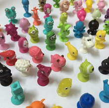 50 PCS set Normal Soft Plastic Sucker Dolls good Cupule kids Cartoon Animal Action Figures toys