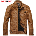 LONMMY M-3XL 2016 Winter Motorcycle Leather jacket men Slim Stand Collar Bomber jacket man Faux PU Leather coat Suede Casual NEW
