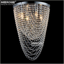 Flush Mounted Crystal Chandelier Light Fixture Crystal Curtain Bedroom Kitchen Aisle Porch Lamp Hallway Crystal Lustre Lighting free shipping crystal chandelier light fixture oval shape crystal lamp flush mounted chandelier lighting dining lighting pendant