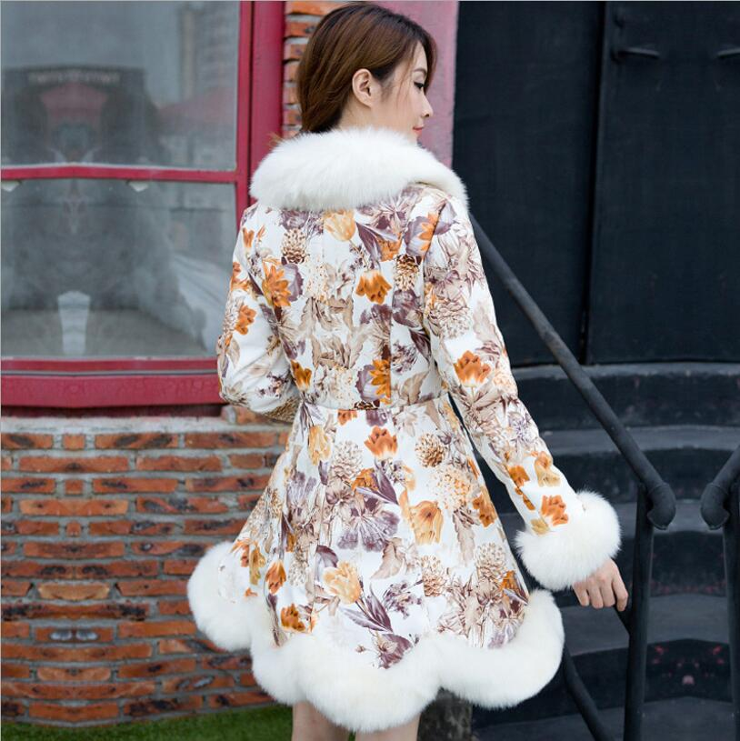 2017 Imitation De D'hiver Renard Et Orange Pu Manteau Mode Fourrure Automne Gamme Nouvelle bleu Haut pourpre Tempérament Cuir Impression En R8RvFrnE