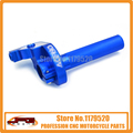 Billet CNC Twister Throttle Clamp Assy Blue for Bosuer Kayo 50 70 90 100 110 XR50 CRF50 Pit Dirt Bike ATV Offroad Motorcycle
