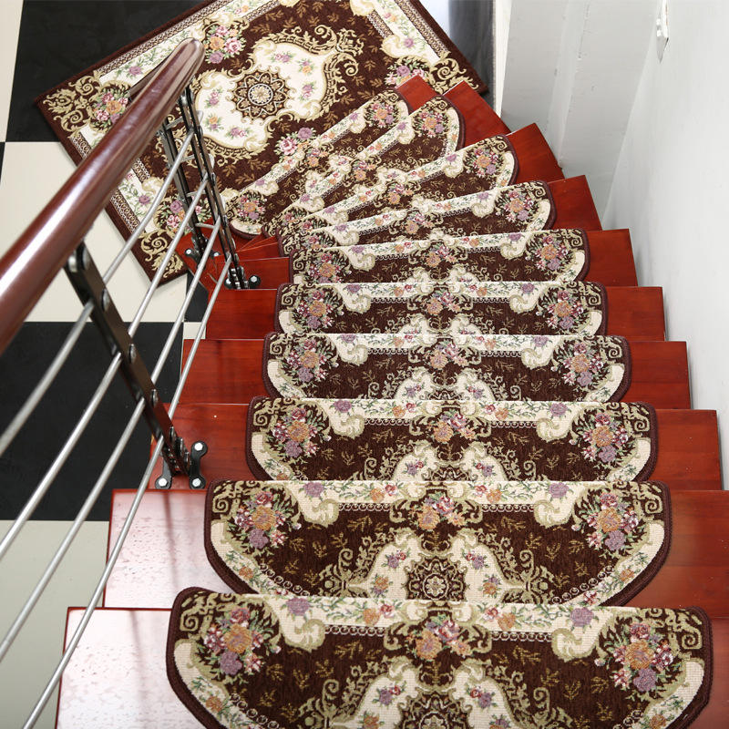 13-Pieces Stair Carpet Sets Slip Resistance Stair Tread Mats Rugs For Stair Step 24X74cm Fit For 25cm Width Stair