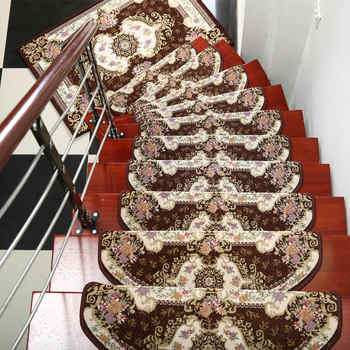 13-Pieces Stair Carpet Sets Slip Resistance Stair Tread Mats Rugs For Stair Step 24X74cm Fit For 25cm Width Stair - DISCOUNT ITEM  32% OFF All Category