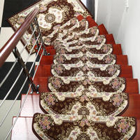13 Pieces Stair Carpet Sets Slip Resistance Stair Tread Mats Rugs For Stair Step 24X74cm Fit For 25cm Width Stair