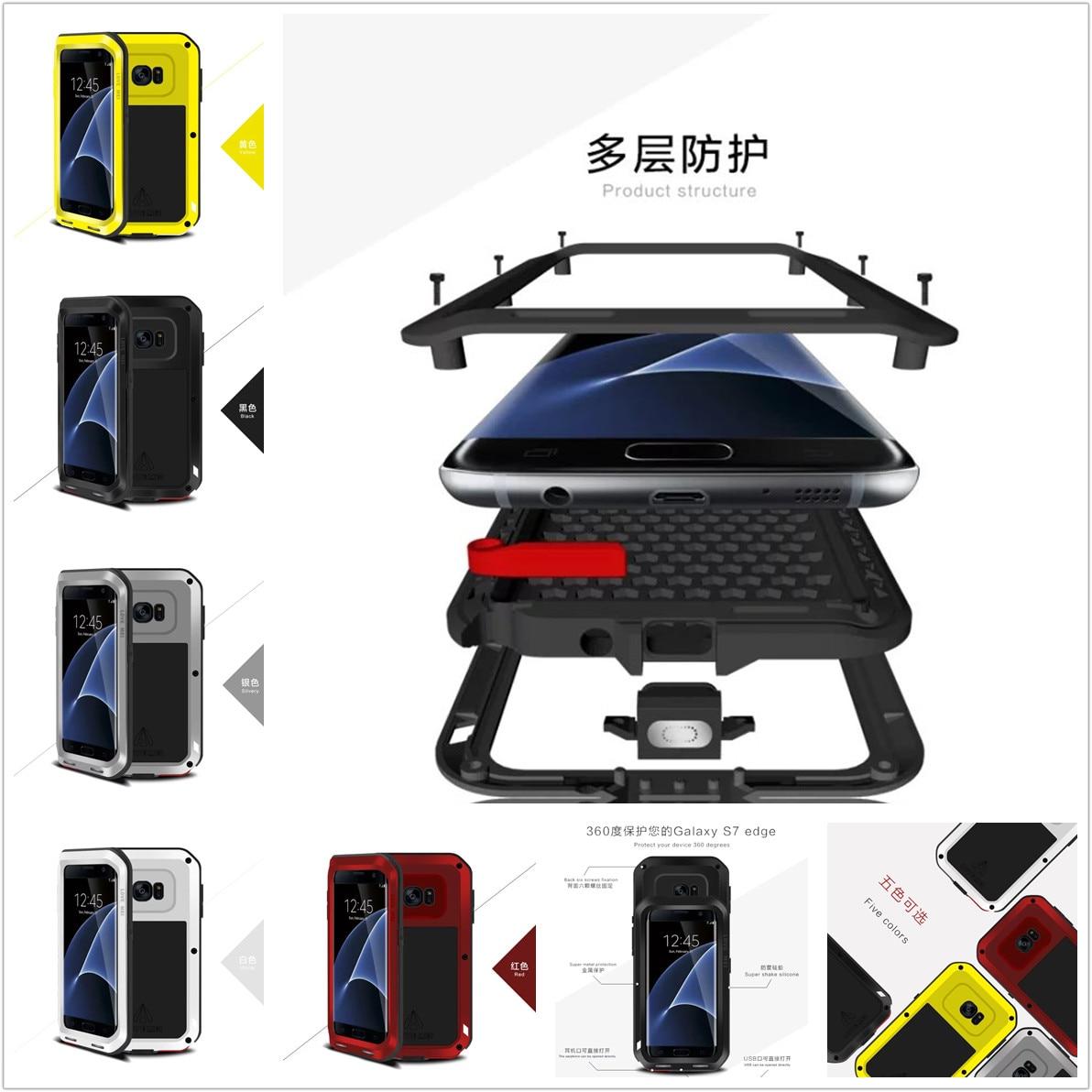 bilder für Für Samsung Galaxy S7 rand G935F G9350 Original Love Mei Tak Spuer Wasserdichte Aluminium-gehäuse Aluminium Metal Armor fall