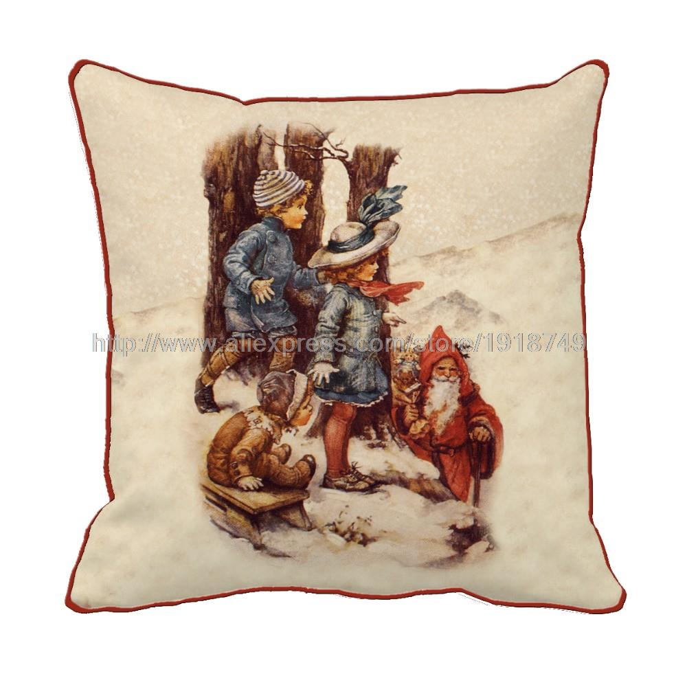 online buy wholesale vintage christmas decorations from china elegant cushion covers car sofa decorative throw pillows covers home decor retro vintage christmas decorative cushion