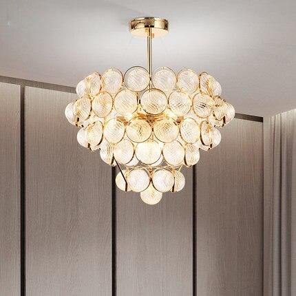 Светодиодный современная люстра американский золотой Люстры фары светильник домой Гостиная номер повесить лампы 3 белый свет Цвет затемне