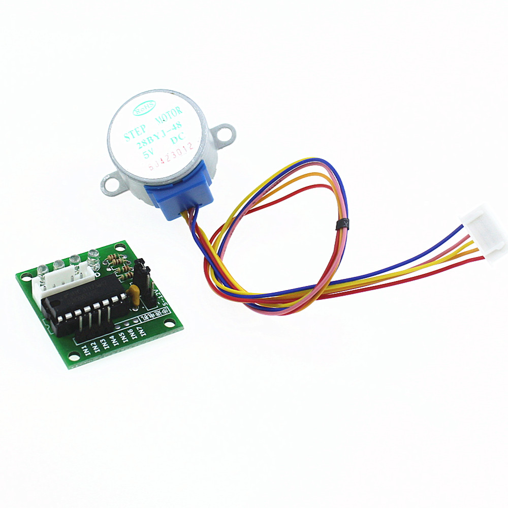 Smart Electronics 28BYJ-48 5V 4 Phase DC Gear Stepper Motor + ULN2003 Driver Board for Arduino UNO MEGA R3 DIY Starter Kit lson 5v 4 phase stepper motor learning package w driver board multicolored