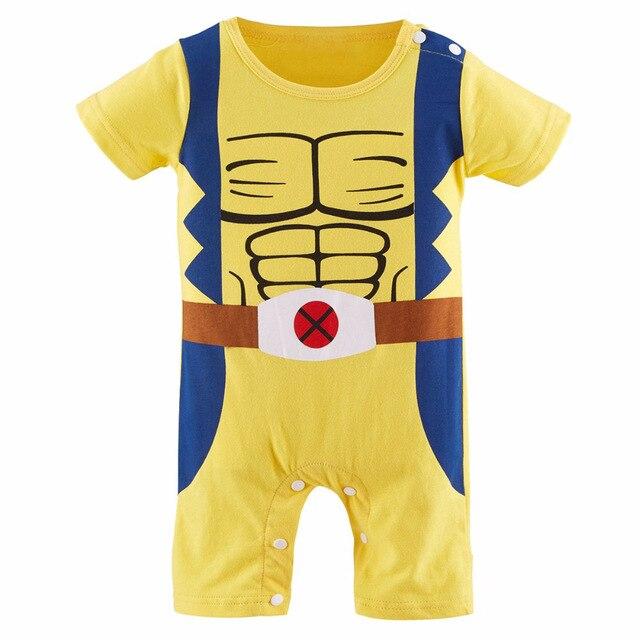 f77e9d0e90ca Baby Boy X Men Costume Romper Infant Wolverine Cute Jumpsuit Party ...