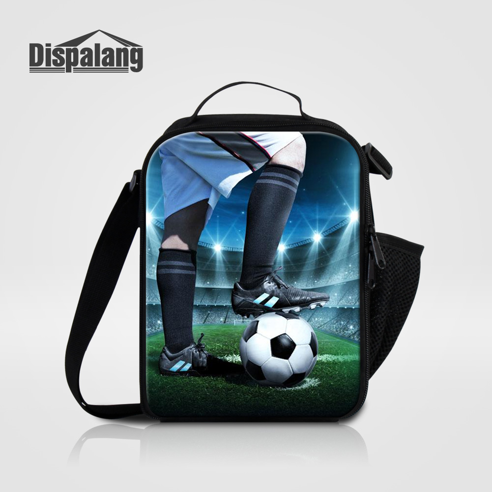 Dispalang Oxford Insulated Lunch Bag 3D Printing Soccers Men Cooler Lunch Box Bags Kids Thermal Food Picnic Lancheira For School