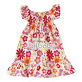 hot sale lovely flower dress children summer wear clothing girl pretty cotton dress flowers sleeveless sundress 1pcs