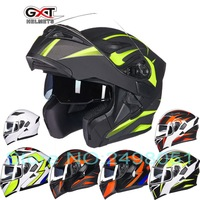 2017 New GXT Dual Lens Open Face Motorcycle Helmet Full Cover Flip Up Motorbike Helmets Wiht