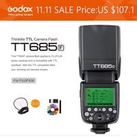 Godox tt685f TTL Speedlite 2.4 г HSS 1/8000 s GN60 Камера вспышкой для Fuji Fujifilm Камера + x1t f Беспроводной внезапный комплект
