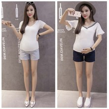 Summer Maternity Shorts Pregnant Pants Women Pregnancy Trousers For