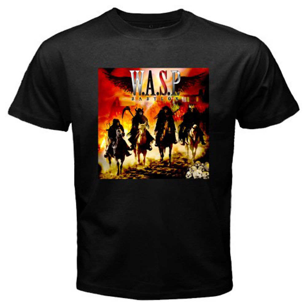 New WASP W.A.S.P. Babylon Rock Band Mens Black T-Shirt Size S to 3XL