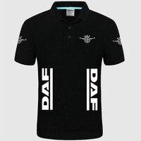 Летняя Высококачественная брендовая рубашка поло с логотипом DAF, рубашка с короткими рукавами, модная повседневная Однотонная рубашка поло...