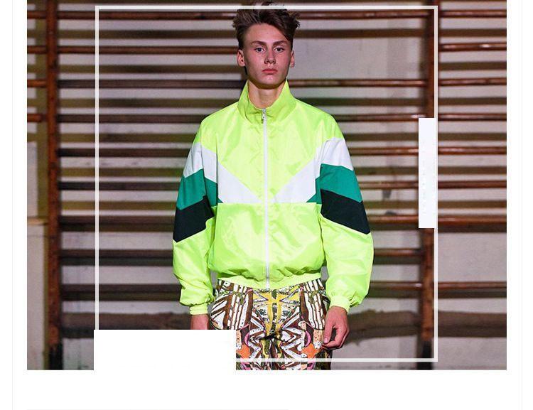 Men Jacket Gosha Rubchinskiy Classic Navy Tricolor Sport Long sleeve Windbreaker Jackets Hiphop Skateboards Couples Outwear S-XL (3)