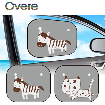 Overe Car Side window shade Covers Animal Anti-static For BMW E60 E36 E46 E90 E39 E30 F30 F10 F20 X5 E53 E70 E87 E34 image