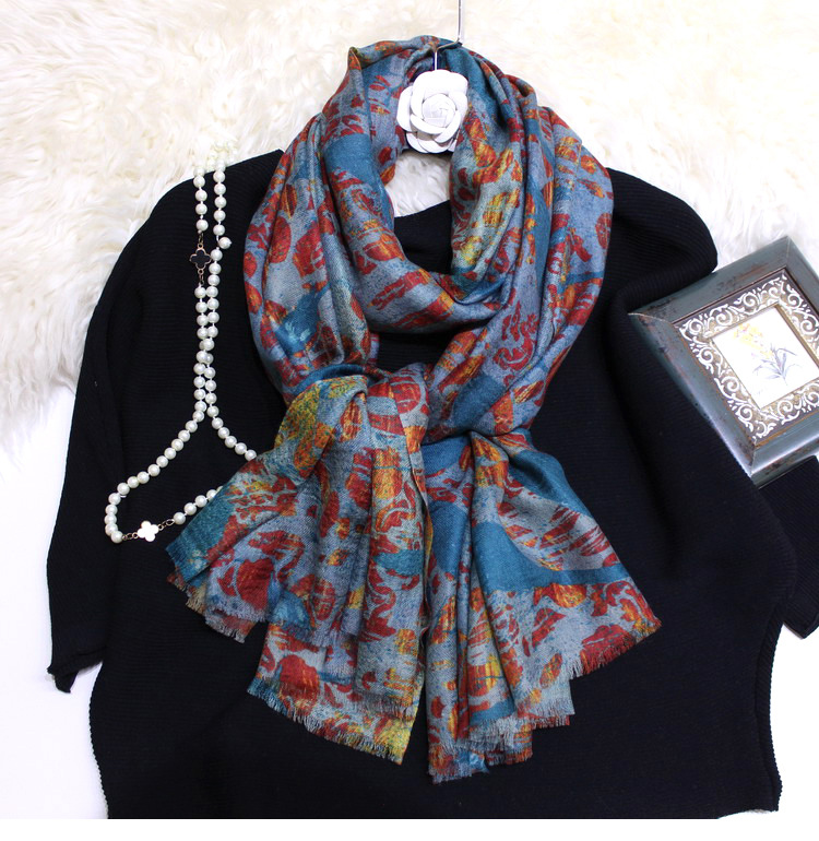 Long Peacock Flame High Grade Lady High Grade Cashmere Scarf Pashmina Headband Scarves Multi Function Drop Shipping YR16