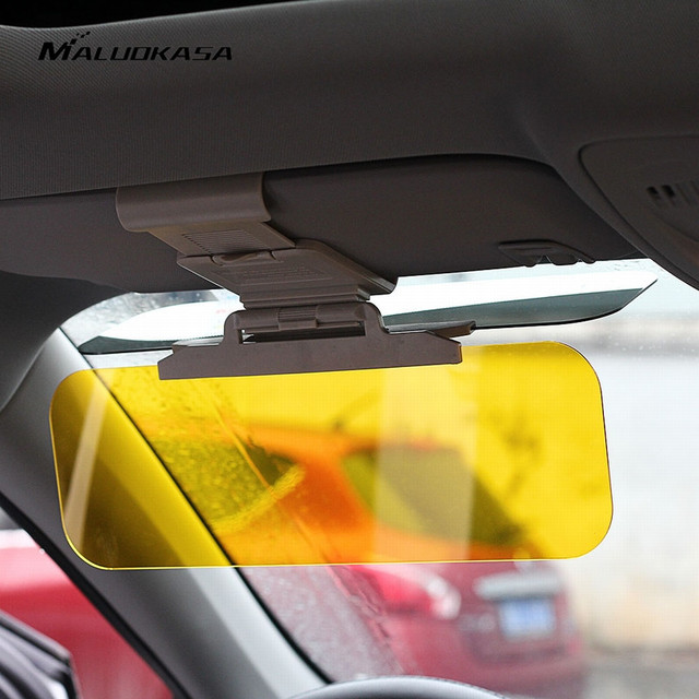 MALUOKASA Car Window Shade Driver Glass Sun Visor HD Anti-Dazzling Goggle Day Night Vision Driving Mirror UV Foldable Clear View