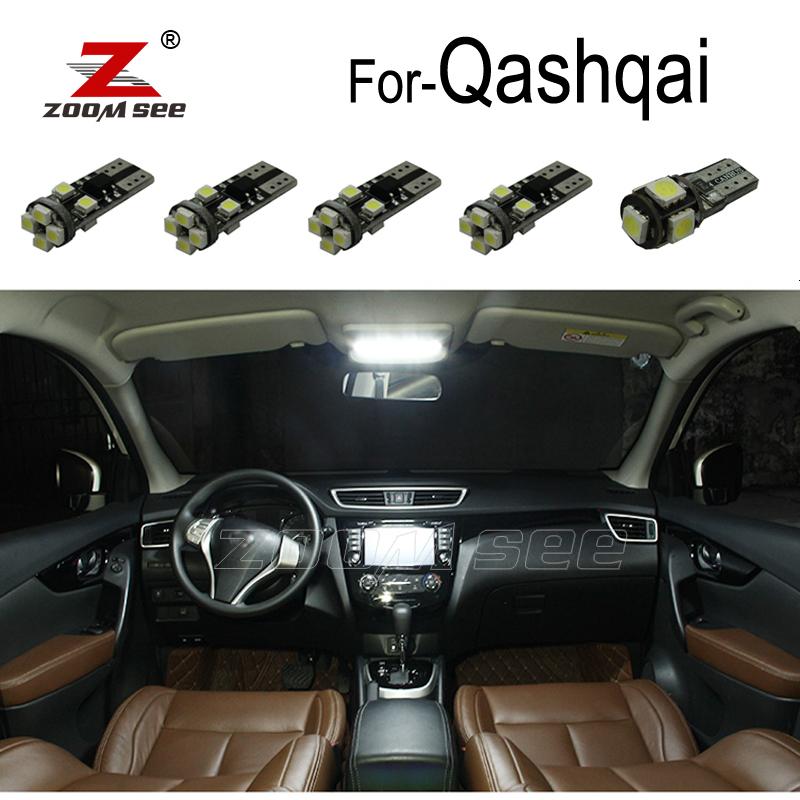 10pc x Canbus Error Free For 2007-2018 Nissan Qashqai J10 J11 LED bulb Interior Roof Reading map dome light kit