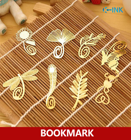 20pcs/lot , Golden metal vintage bookmarks Animal / Flower Feather book markers for reading