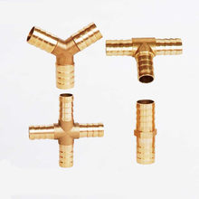 Brass Barb Pipe Fitting 2 3 4 way connector For 4mm 5mm 6mm 8mm 10mm 12mm 16mm 19mm hose copper Pagoda Water Tube Fittings(China)