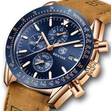 Benyar homens relógios marca de luxo pulseira silicone à prova dwaterproof água esporte quartzo cronógrafo militar relógio masculino relogio masculino