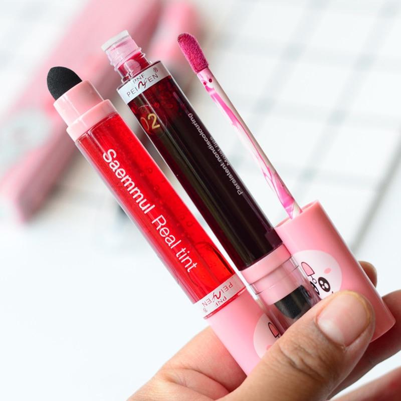 PNF Lip Gloss Liquid Lipstick lip makeup Waterproof long lip luster 3 color Wholesale Cosmetics lipstick 3