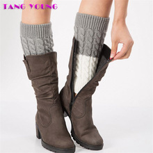 2019 New Fashion High Quality Women Warm Winter Classic Knitting Leg Warmers Crochet Casual boots Knee Trim Body Warmer polainas цена 2017