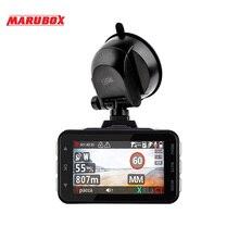 MARUBOX M610R портативный 3 в 1 Радар детектор gps Автомобильный видеорегистратор Dash камера Супер HD 1296P Авто видео регистратор рекордер Dashcam