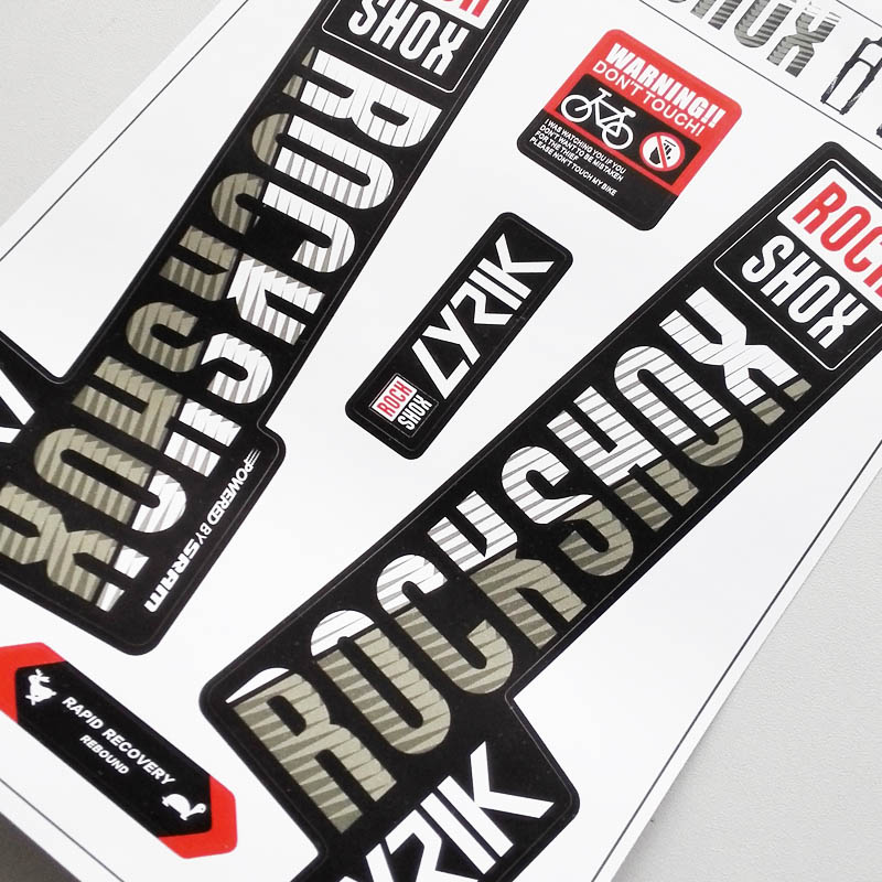 Image 3 - 2018 rockshox LYRIK mountain bike front fork stickers bicycle front fork decals-in Bicycle Stickers from Sports & Entertainment