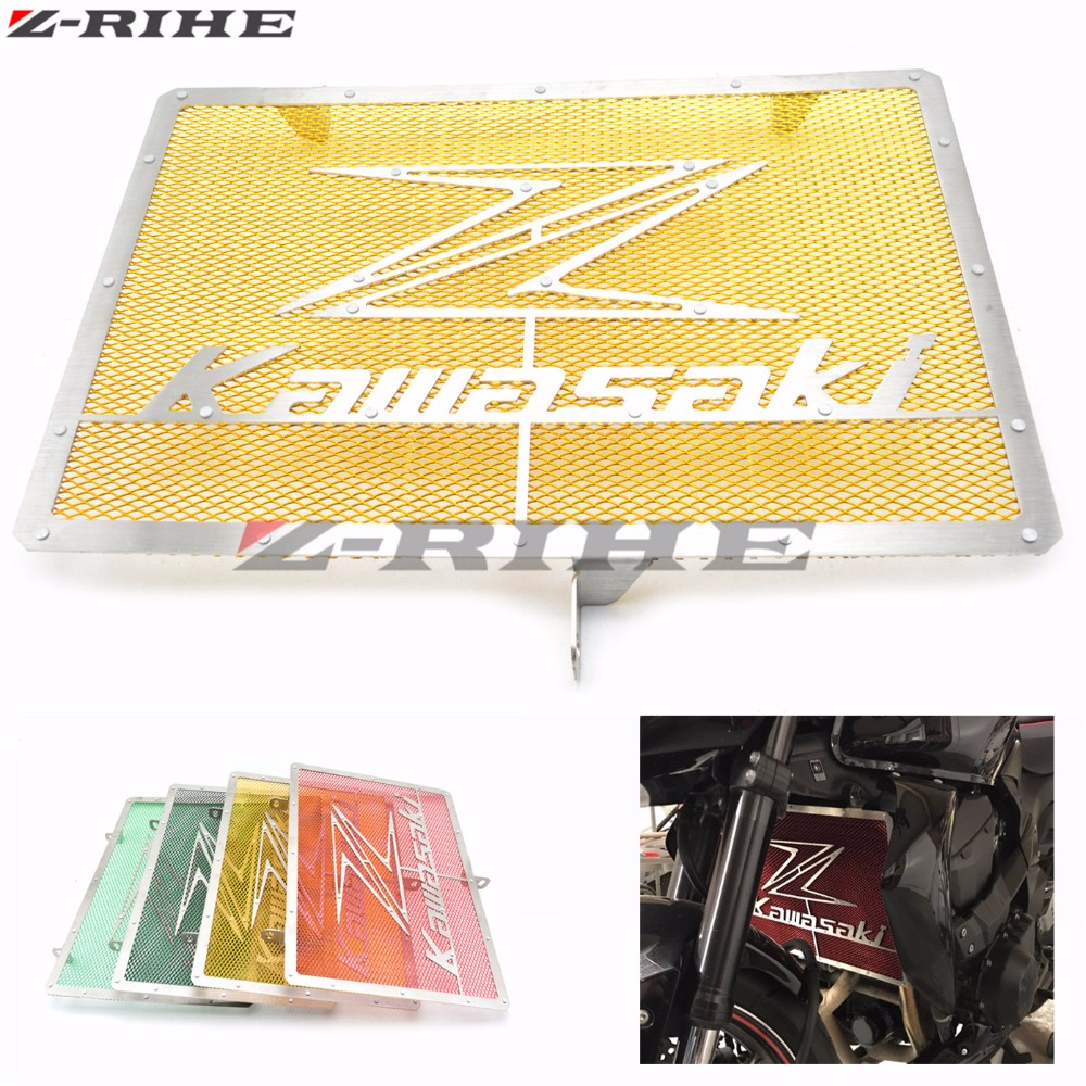 Motorcycle Accessories stainless steel radiator guard protector grille grill cover For Kawasaki Z750 Z1000 2007-2015 2014 2013 arashi motorcycle radiator grille protective cover grill guard protector for 2008 2009 2010 2011 honda cbr1000rr cbr 1000 rr
