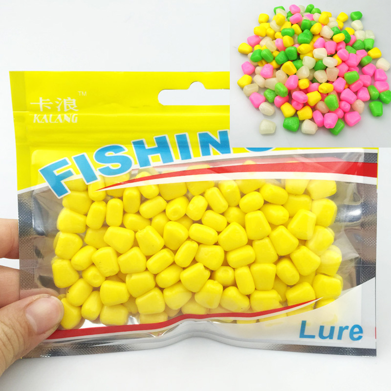Hot selling! 100Pcs Lot 44grams Soft Baits corn with corn smell carp Fishing Lures Floating baits 004