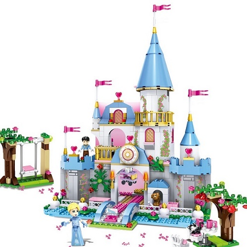 Cinderella Romantic Castle Building Blocks Princess Friend Figures Bricks Model Action Girl Toys Christmas Gift LELE 79279 lepin 16008 4160pcs cinderella princess castle city model building block kid educational toys for gift compatible legoed 71040