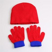 Knitted Spider-Man Glove + Beanie Set