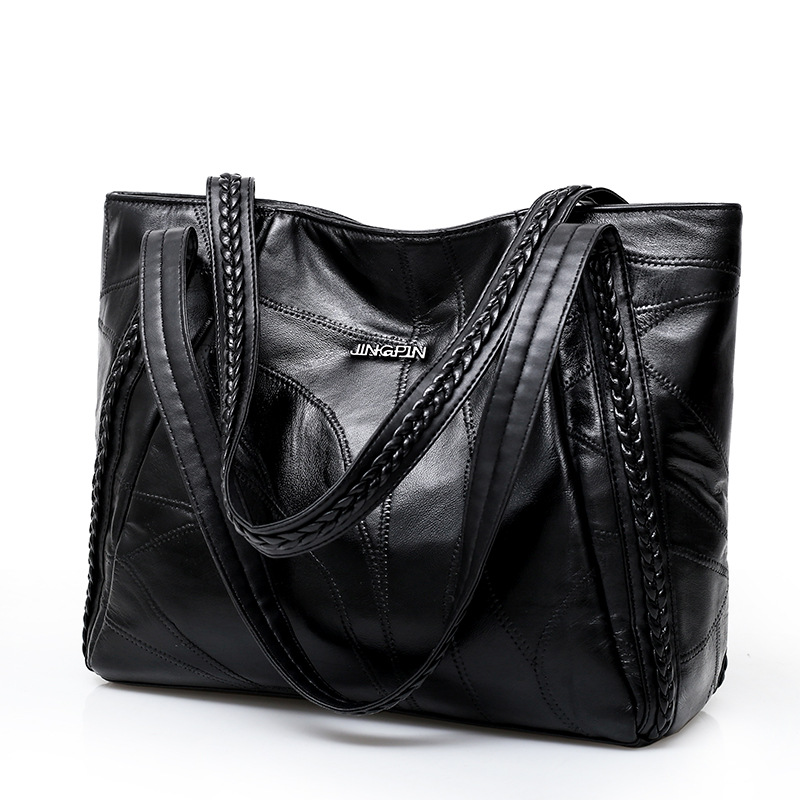 где купить Top-handle Bags Luxury Handbags Women Bags Designer Fashion Totes For Ladies Big Leather Handbag Female Hobo Sac Shoulder Bag дешево