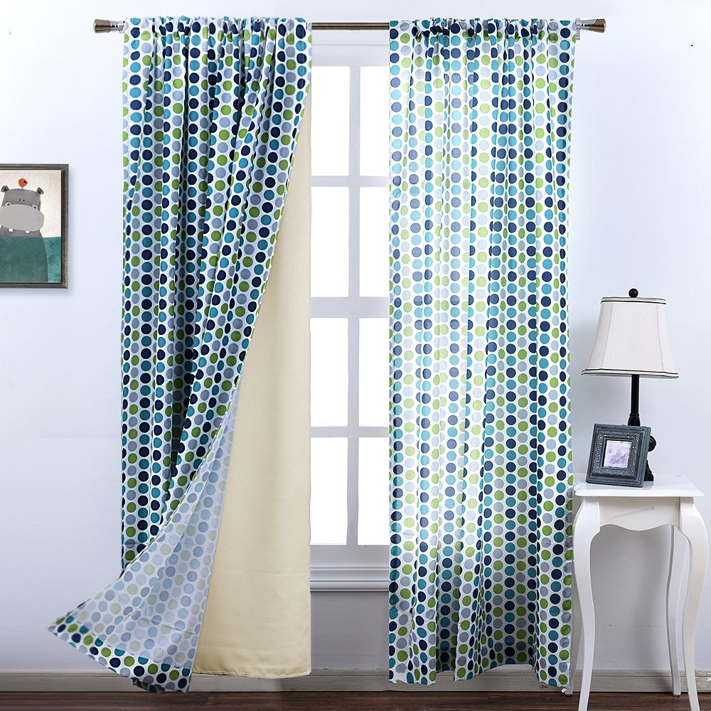 nicetown thermal insulated rod pocket blackout curtains drapery lining 2 panel pack hooks